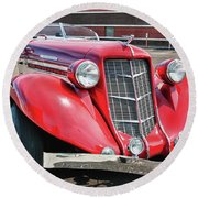 1935 Auburn Speedster 6870 Round Beach Towel