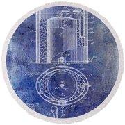 1935 Beer Equipment Patent Blue Round Beach Towel