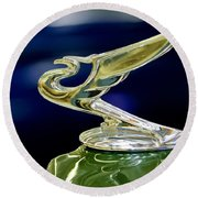 1935 Chevrolet Hood Ornament Round Beach Towel