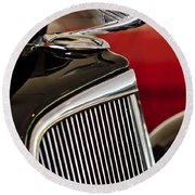 1935 Chevrolet Optional Eagle Hood Ornament Round Beach Towel