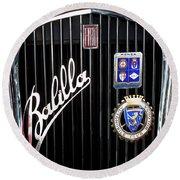 1935 Fiat Balilla Sport Spider Grille Round Beach Towel