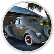 1935 Ford Coupe Round Beach Towel