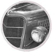 1935 Ford Sedan Grill Round Beach Towel