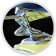1935 Packard Hood Ornament Round Beach Towel