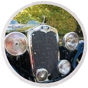 1935 Triumph Southern Cross Front Grill Round Beach Towel