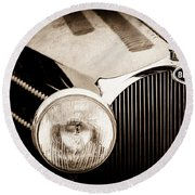 1936 Bugatti Type 57s Corsica Tourer Grille Emblem -1673s Round Beach Towel