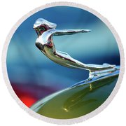 1936 Cadillac Hood Ornament 2 Round Beach Towel