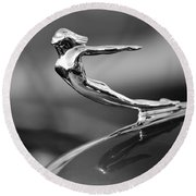 1936 Cadillac Hood Ornament 3 Round Beach Towel