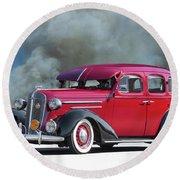 1936 Chevrolet Master Deluxe Sedan Round Beach Towel