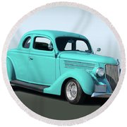 1936 Ford Coupe 1 Round Beach Towel