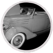 1936 Ford Rumble Seat Cabriolet  Round Beach Towel