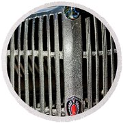 1936 Oldsmobile Grille Round Beach Towel