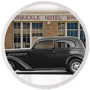 1936 Plymouth Business Coupe II Round Beach Towel