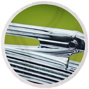 1936 Pontiac Hood Ornament 3 Round Beach Towel