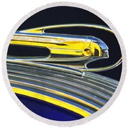 1936 Pontiac Hood Ornament Round Beach Towel