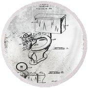 1936 Toilet Bowl Patent Antique Round Beach Towel