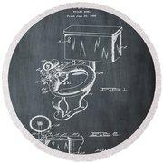 1936 Toilet Bowl Patent Chalk Round Beach Towel