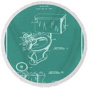 1936 Toilet Bowl Patent Green Round Beach Towel