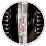 1937 Buick Model 91f Formal Sedan Grille Emblem -0783ac Round Beach Towel