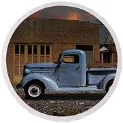 1937 Chevy Pickup Truck Round Beach Towel