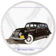 1937 Chrysler Airflow  Round Beach Towel
