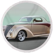 1937 Ford 'high End' Coupe I Round Beach Towel