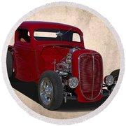 1937 Ford Truck Round Beach Towel