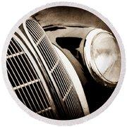 1938 Bmw 327-8 Cabriolet Grille Emblem -1526s Round Beach Towel