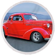 1938 Chevrolet 'all Business. Coupe Round Beach Towel