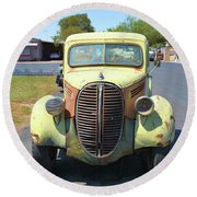 1938 Ford Truck Round Beach Towel