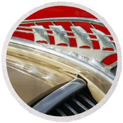 1938 Plymouth Hood Ornament Round Beach Towel