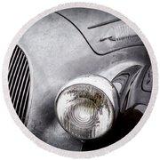 1938 Talbot-lago 150c Ss Figoni And Falaschi Cabriolet Headlight - Emblem -1554ac Round Beach Towel