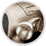 1938 Talbot-lago 150c Ss Figoni And Falaschi Cabriolet Headlight - Emblem -1554s Round Beach Towel