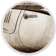 1938 Talbot-lago 150c Ss Figoni And Falaschi Cabriolet Side Door Handle -1511s Round Beach Towel