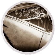 1938 Talbot-lago 150c Ss Figoni And Falaschi Cabriolet Steering Wheel -1561s Round Beach Towel
