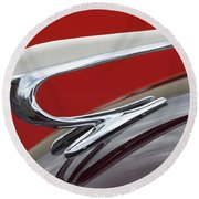 1938 Willys Aftermarket Hood Ornament Round Beach Towel