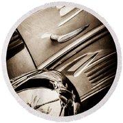 1939 Bugatti T57c Galibier -0298s Round Beach Towel