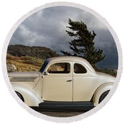 1939 Chevrolet Coupe Round Beach Towel