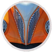 1939 Ford Hot Rod Cvt Grille Round Beach Towel