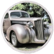 1939 Packard Coupe Round Beach Towel