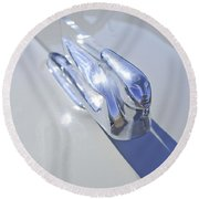 1940 Cadillac Hood Ornament Round Beach Towel