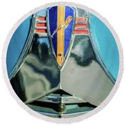 1940 Dodge Business Coupe Emblem Round Beach Towel