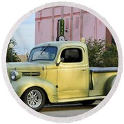 1940 Dodge Pickup Round Beach Towel