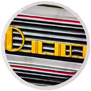 1940 Oldsmobile Emblem Round Beach Towel