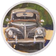1940 Plymouth Round Beach Towel