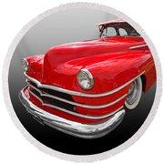 1940s Custom Chrysler New Yorker In Red Round Beach Towel