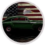 1941 Buick Century Tribute Round Beach Towel