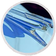 1941 Chevrolet Hood Ornament Round Beach Towel