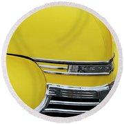 1941 Chevrolet Sedan Hood Ornament 2 Round Beach Towel by Jill Reger