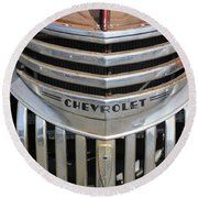 1941 Chevy - Chevrolet Pickup Grille Round Beach Towel